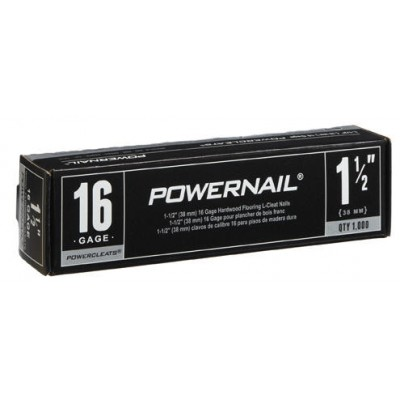 "Powernail 1 1/2"" 16 Gage Cleats 1000 Count"