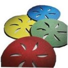 "Norton Sand Dollar 16"" Green Very Fine  Sold in Packs of 4"